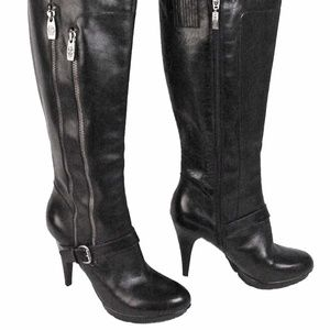 GUESS womens 10 M black platform knee hi boots